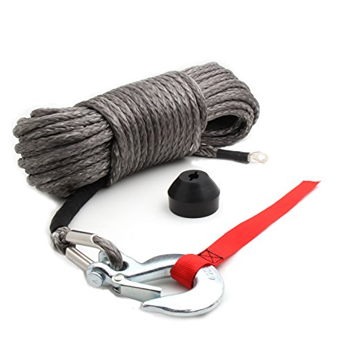 """Offroading Gear 50'x1/4"""" Synthetic Winch Rope Kit 