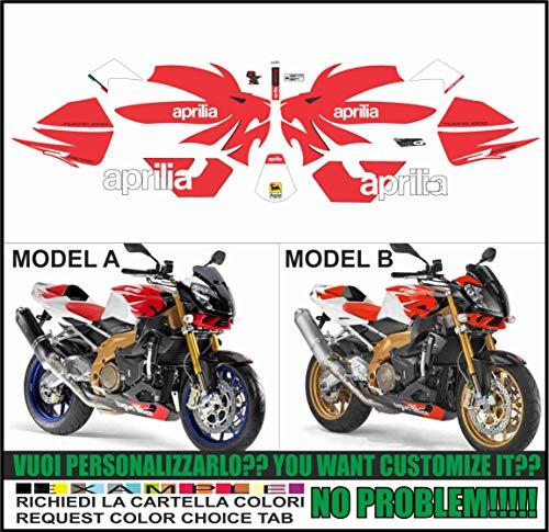 Emanuel & Co Kit adesivi Decal Stickers COMPATIBILI Aprilia Tuono 1000 2006 2010 Factory (IN FASE DI ORDINE INDICARE IL Modello A o B)