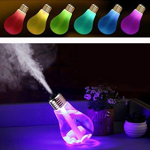 Cisixin USB Humidificador Ultrasónico 400ml, Difusor de Aroma de Funcionamiento Luz LED de 7 Colores para Dormitorio, Hogar, Oficina, Baño, Bebé, etc