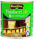 Rustins TLMO1000 - Barniz de protección para madera en exterior (1 L), color roble