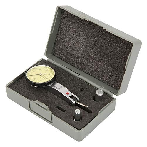 Alianthy Reloj comparador: 0-0,8 mm 0,01 mm Precisión Métrica Rieles de Cola de Milano Indicador de Prueba de dial Calibrador