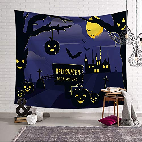 Tapestry Wall Hanging Nordic Cartoon Halloween Party Psychedelic Spirituellen Hippie Groß Halloween Muster (12) Bedruckte Gewebe Für Zu Hause Schlafzimmer Flur Küche Wohnzimmer Bibliothek Kunst DEK