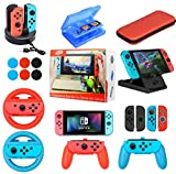 Accessories Kit Bundle for Nintendo Switch,19 in 1 Essential Games Kit for Switch Including Joy Con...