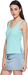 Mango Tank Tops For Women, Turquoise Blue XS, Size XS