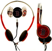 MLB Nes Group Boston Red Sox Over The Head Headphones With Detachable Graphic Discs