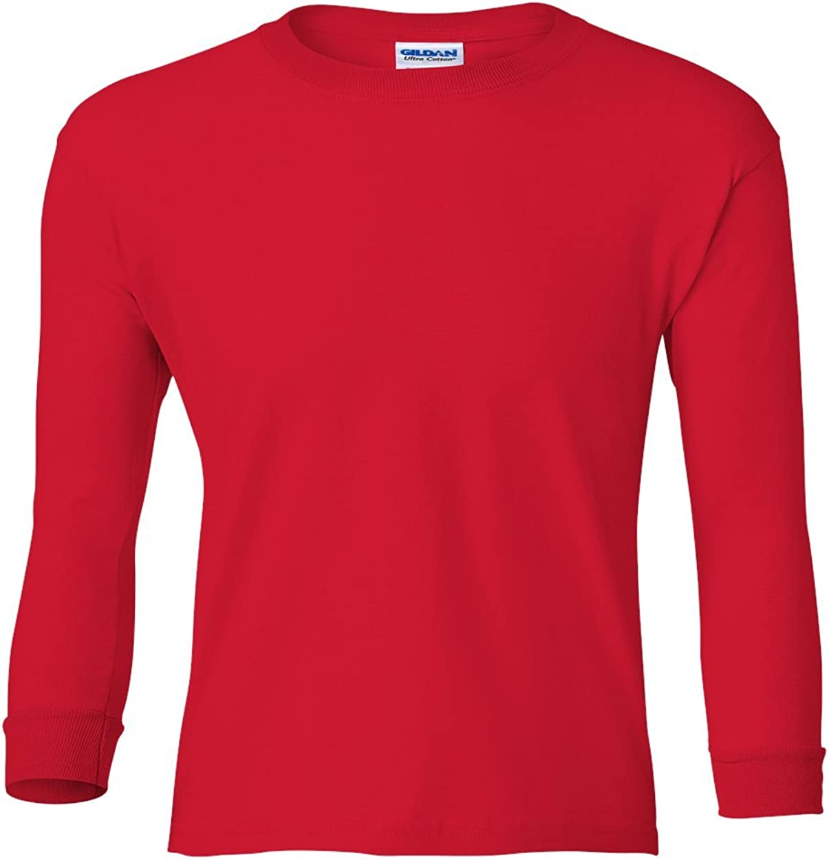 Cotton Long-Sleeve T-Shirt (G240B) Red, S (Pack of 12)