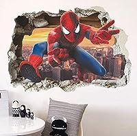 MANW スパイダーマンスーパーヒーローズウォールステッカーキッズルームデコレーションホームベッドルームPVCデコレーション漫画映画壁画ウォールアートデカール-A