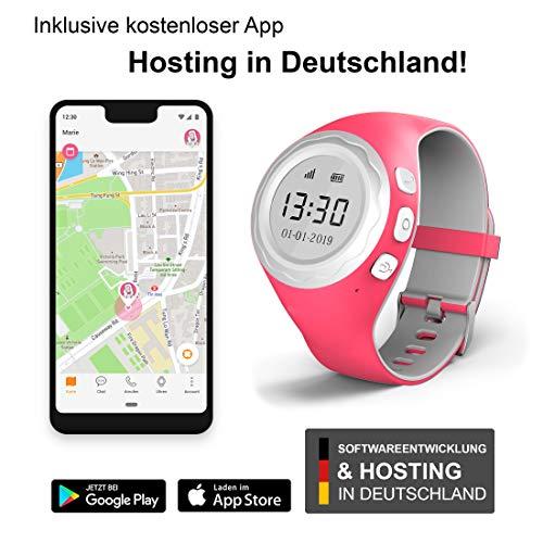 Pingonaut Kidswatch – Smartwatch / Telefonuhr für Kinder – mit GPS – Himbeer-Pink - 3