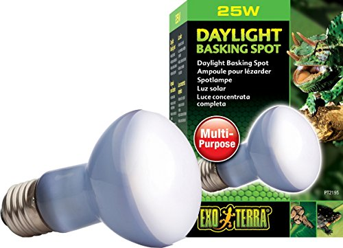 Exo Terra PT2195 Breitspektrum Tageslichtlampe Wärmestrahler Daylight Baski Spot 25 W