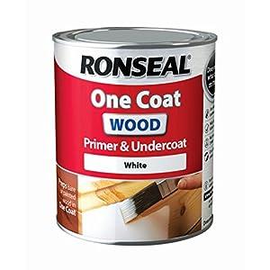 Ronseal rslocwpu750One Coat madera imprimación y capa, claro, 750ml