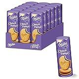 Milka Choco Pause 18 x 260g, 12 Runde Kekse mit Schokoladencremefüllung in einer Rolle