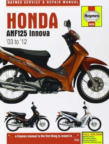 Honda ANF125 Innova Scooter (03 - 12): 2004-2012 (Service & Repair Manual)
