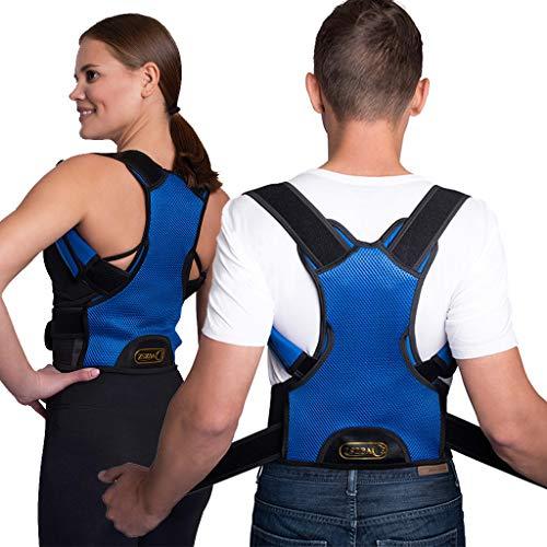 ZSZBACE Atmungsaktiver Haltungskorrektor zur Linderung von Rückenschmerzen - die Rückenstütze von Männern und Frauen richtet die Wirbelsäule gerade und beugt Buckelbildung vor (Blau, S)
