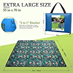 Roebury Picnic Blanket & Beach Blanket - Large Oversized Water-Resistant Sandproof Mat for Outdoor Travel or Camping Rug…