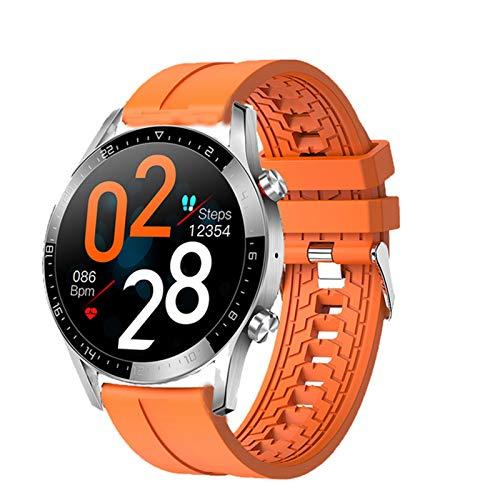 LHL 2021 Adecuado para Android iOS New GT05 Smart Watch Men's Bluetooth Call Call ECG PPG IP68 Presión Arterial Impermeable Tasa De Corazón Rastreador De Fitness Smartwatch,D