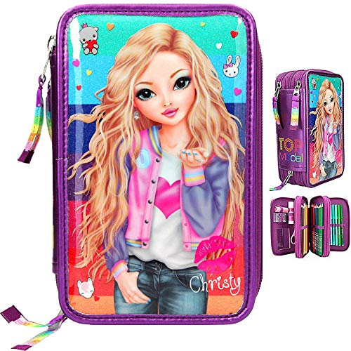Top Model Estuche Escritura Triple Lleno Curso TOPModel Friends Purpur (0010628), Multicolor...