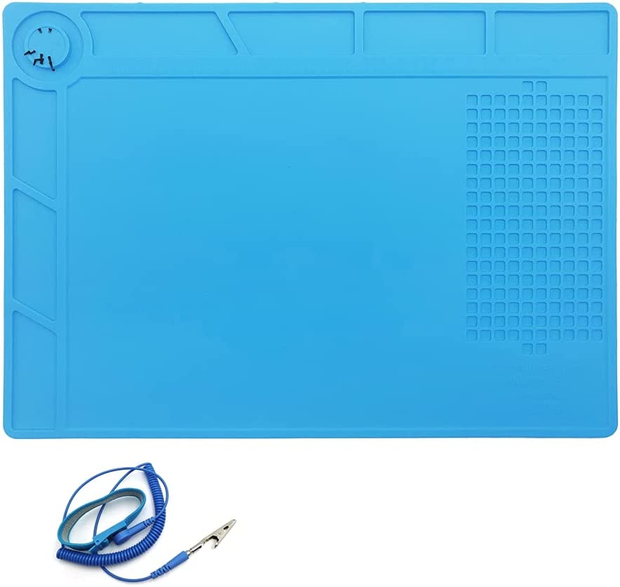 Silicone Soldering Mat, Magnetic Electronics Repair Mats with Wr
