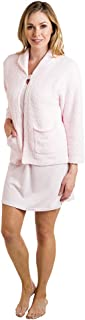 Softies Women's Ultra Soft Marshmallow Cloud Bed Jacket with One Button and Pockets