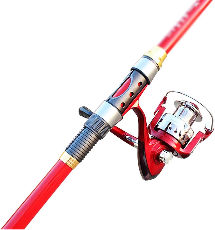 Angelwerkzeug Angelrute Carbon Mini Sea Rod Superharte Ultraleichte Tragbare Einziehbare Rot Kurze Angelausrüstung Plus 6 Achsen Angelrad Set