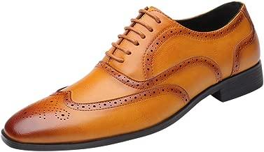 حذاء رجالي أنيق كاجوال مدبب من الأمام من جلد أكسفورد