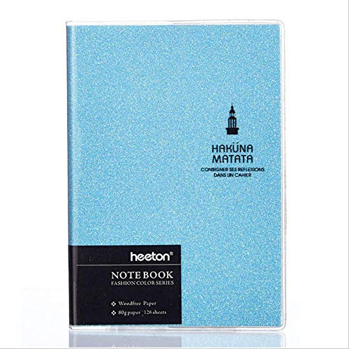 Notebook Color Laser Planner Notepad Weekly Diary Pen Diary Traveler Notes Stationery A6 blue
