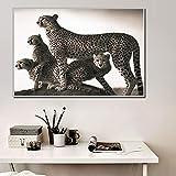 GEGEBIANHAOKAN LeinwandWandkunstGeparden Tiere