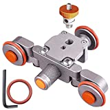 AW Tabletop Rolling Slider Auto Dolly Car Motorized Camera Dolly 3 Wheel Video