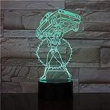 3D Illusionslampe Led Nachtlicht Cartoon Mädchen Aufzug Auto Usb Touch Schalter Tischlampe Usb Bunt Für Kinder Spielzeug Geschenk