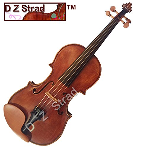 D Z Strad Violin - Model 400 - Light Antique Finish with Dominant Strings, Case, Bow and Rosin