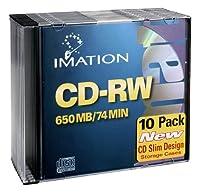 Imation imn40955書き換え可能CDメディア、CD - RW 700MB、4x、、10パックスリムジュエルケース、小売