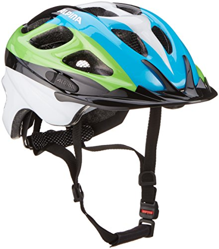 ALPINA ROCKY Fahrradhelm, Kinder, black-blue-green, 52-57
