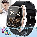 Smartwatch Orologio Fitness Donna Uomo,Blutooth Smart Watch Impermeabile Ip67 Con Pressione Sanguigna Cardiofrequenzimetro Messaggi Activity Tracke