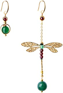 FENICAL orecchini moda orecchini libellula agata creativa orecchini pendenti asimmetrici 1 paio
