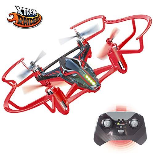 Xtrem Raiders- Easy Mini Carreras para niños, Nano Drone Juguete con Auto looping, Color rojo (XT280806)
