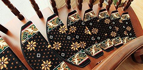 GR Carpet GUORONG Stile Europeo Scala Tappeto di plastica Libero Autoadesivo Antiscivolo Solida Scala in Legno Pad Stair Tappeto Coperta Facile da Pulire, Antiscivolo Resistente all'usur