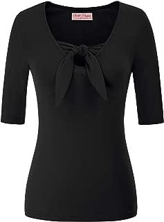 Women's V-Neck Short Sleeve Off Shoulder Retro Vintage Sexy Tops