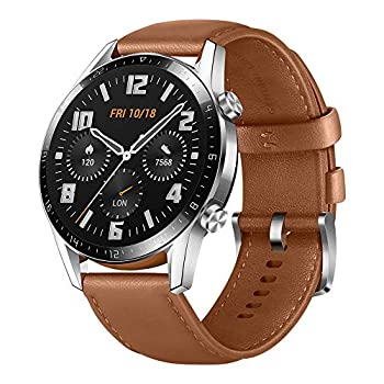 HUAWEI Watch GT 2 2019 Bluetooth SmartWatch Longer Lasting 2 Weeks Battery Life Waterproof Compatible with iPhone and Android 46mm No Warranty International Version  Pebble Brown