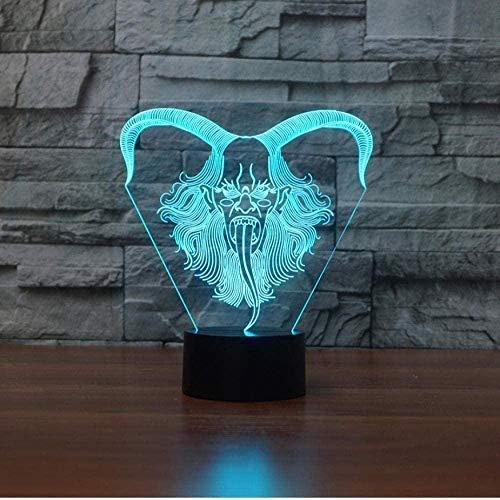 3D-illusie-lamp, lamp, licht, slak, tekening, cartoon, voor kinderen/jongens, meisjes/kamer (cadeau voor verjaardagen, Valentijnsdag, Kerstmis, weekend, zwart)