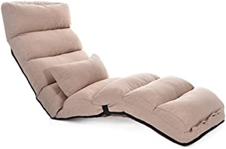 Folding chairs Folding Lazy Sofa Bedroom Armchair Living Room Cloth Sofa Bed Bean Bag + (Color : Rose Red, Size : 54 * 205...