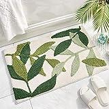 Bath Rug Green Theme Doormat Non Slip Soft Bright Mat for Front Door Ornament, 19.5 X 31.5IN