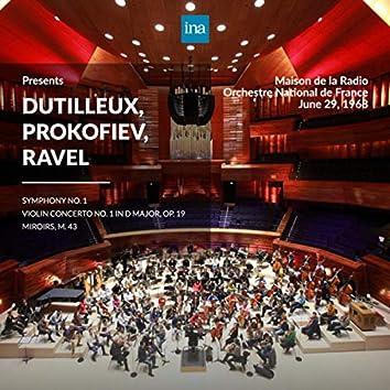 INA Presents: Dutilleux, Prokofiev, Ravel by Orchestre National de France at the Maison de la Radio (Recorded 29th June 1968)