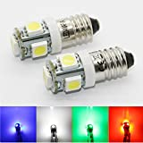 10x E10 Schraubsockel - 12V EY10 LED SMD Gewinde Lampe Wechselspannung - weiß rot blau grün gelb Set Kühlschrank (weiß)