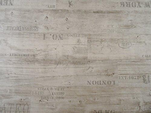 PVC mit Schriftzügen, weiß - von Alpha-Tex 9.95€/m² (Länge: 200 cm, Breite: 400cm)