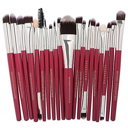 Pinceau de maquillage set Kit pinceau de maquillage de haute qualité Outils Trousse de toilette de maquillage Nylon Cosmetic Brush Eye Makeup Brush 20 In 1 pinceau de maquillage ensemble professionnel