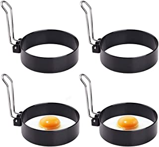 Egg Ring,Round Professional Pancake Mold,Egg Cooker Rings for Cooking, Stainless Steel Non Stick Round Egg Ring Mold for F...