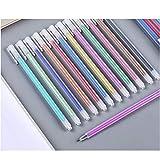Simple y transparente, pluma de acuarela mate, pluma de color, pluma de gel, pluma de mano de 0,5 mm-Juego completo de 12 colores.