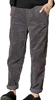 Womens Corduroy Harem Pants Autumn Winter Plus Size Loose Elastic Waist Trousers