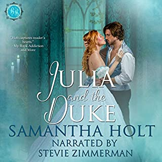 Julia and the Duke     Bluestocking Brides, Book 2              De :                                                                                                                                 Samantha Holt                               Lu par :                                                                                                                                 Stevie Zimmerman                      Durée : 3 h et 17 min     Pas de notations     Global 0,0