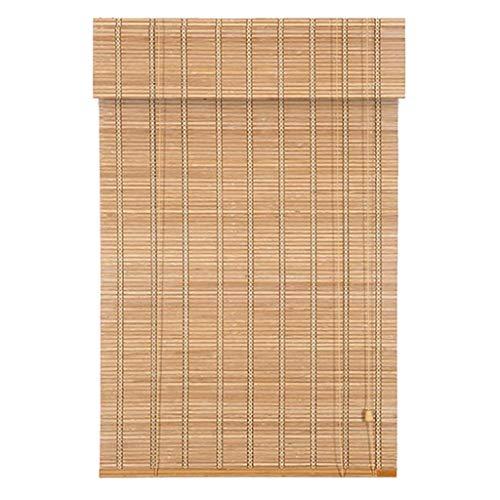 zhicheng shop Persianas enrollables de bambú para Ventanas, Cortinas Retro para Ventanas, persianas de bambú para Ventanas, filtros de luz/Anti-UV/Retro/Impermeables, para Exteriores/Interiores
