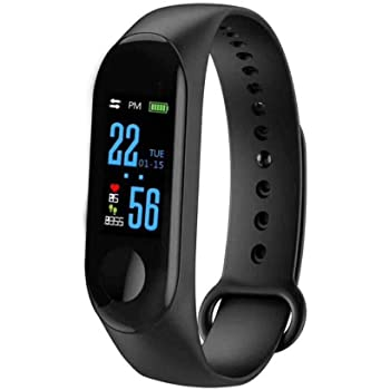 SHOPTOSHOP S4M3 Smart Band Fitness Tracker Watch Heart Rate with Activity Tracker Waterproof Body Functions Like Steps Counter, Calorie Counter, Blood Pressure, Heart Rate Monitor LED Touchscreen